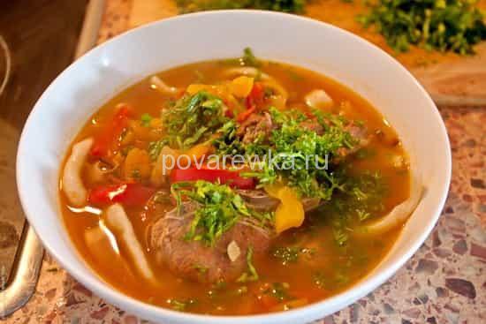 Суп лагман рецепт рецепт пошаговый