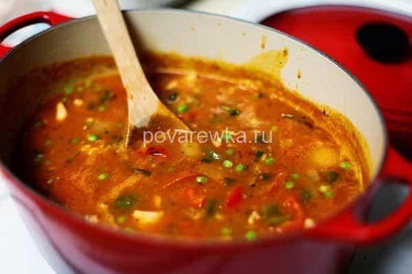 классический суп харчо со свининой