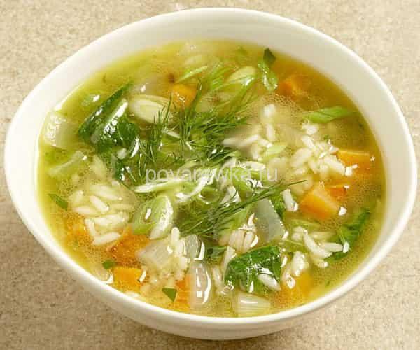 суп с рисом и грибами простой рецепт