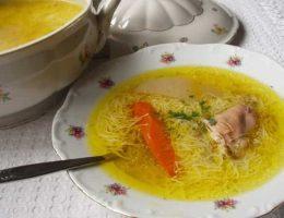 рецепт простого куриного супа с вермишелью