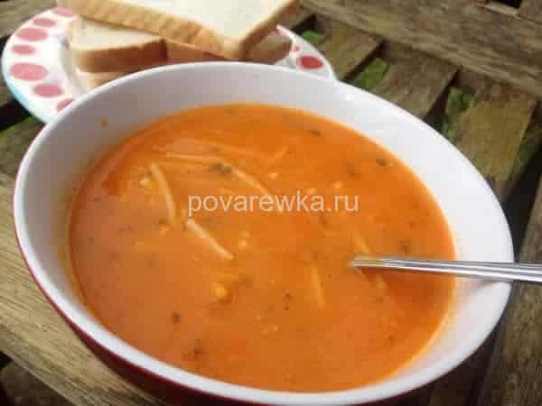 рецепт куриного супа с вермишелью и помидорами