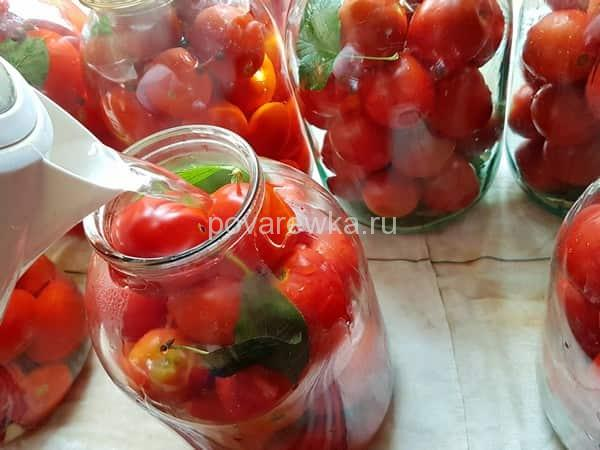 Маринованные помидоры с уксусом на зиму