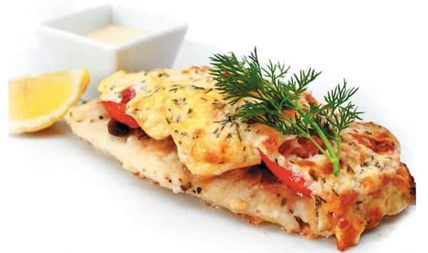 Рыба в духовке с помидорами и сыром
