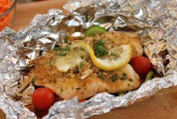 Рыба в духовке кусочками с сыром
