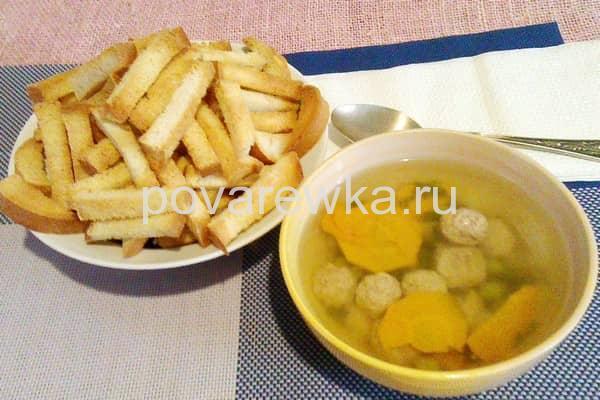 Суп с фрикадельками рецепт с рисом