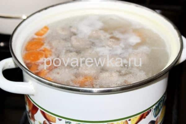 Суп с фрикадельками рецепт с вермишелью