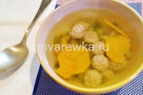 Суп с фрикадельками рецепт с макаронами