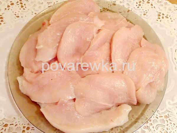 Куриные грудки для отбивных