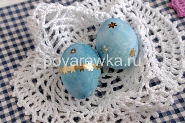 Как покрасить яйца на Пасху в сиреневый цвет