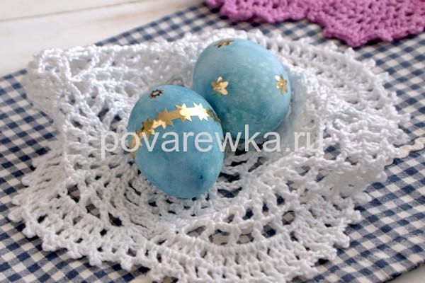 Как покрасить яйца на Пасху в фиолетовый цвет