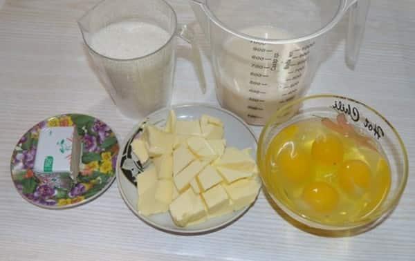 Ингредиенты для александрийского теста