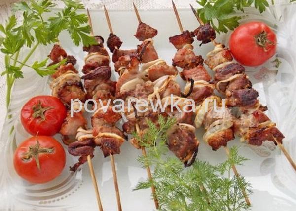 Шашлык из свинины маринад 🥝 с уксусом, рецепт как быстро ... | 428x600