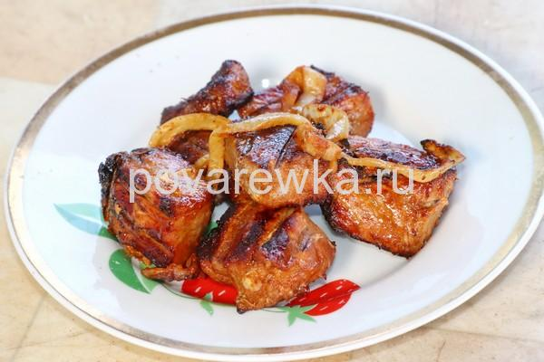Вкусный сочный шашлык из свинины