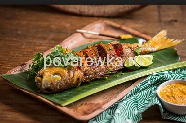 Вкусная жареная рыба на сковороде