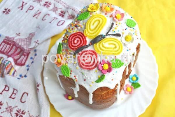 Пасхальный кулич в хлебопечке как украсить
