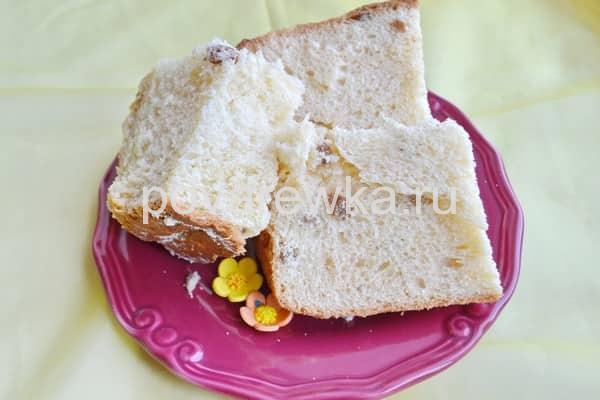 Пасхальный кулич в хлебопечке мягкий