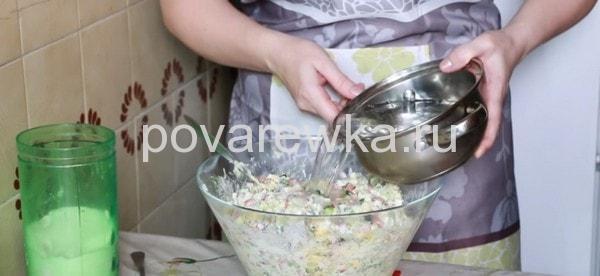 Окрошка на кефире классический рецепт