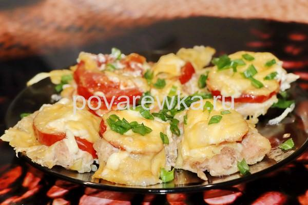 Мясо по-французски в духовке из куриного филе