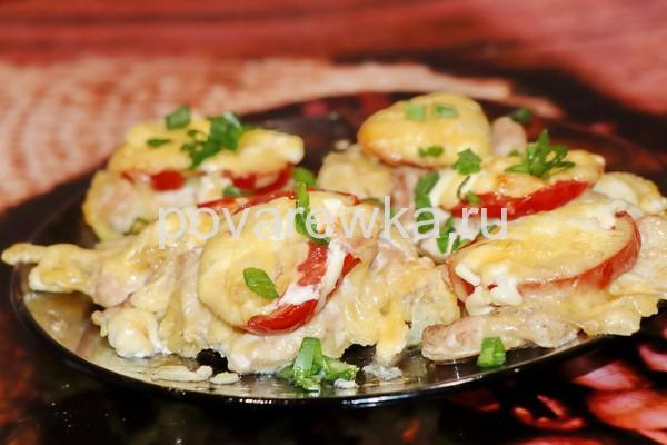 Мясо по-французски в духовке из куриного филе: рецепт
