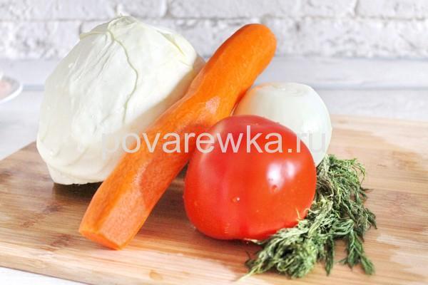 Тушеная капуста с мясом ингредиенты