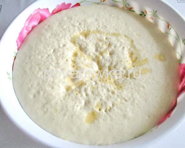 Опарное тесто для ватрушек