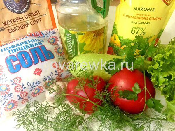 Жареные кабачки на сковороде ингредиенты