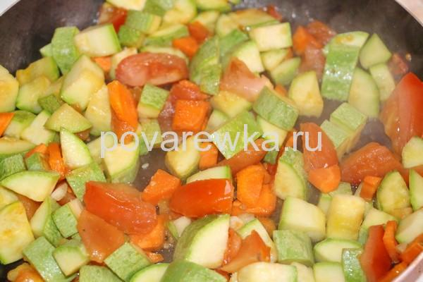 Овощное рагу на сковороде: рецепт с фото