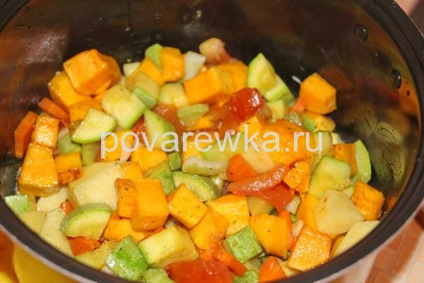 Овощное рагу с кабачками и картошкой на сковороде: рецепт простой