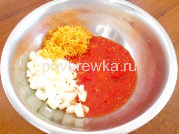 Тефтели в духовке с подливкой в томатной заливке