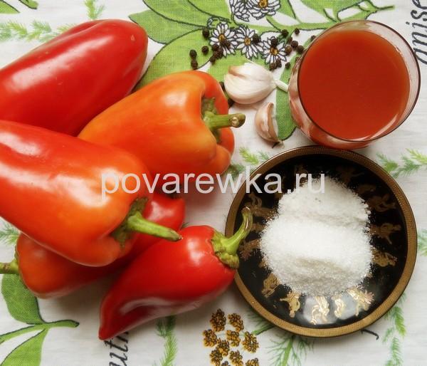 Перец в томате на зиму ингредиенты