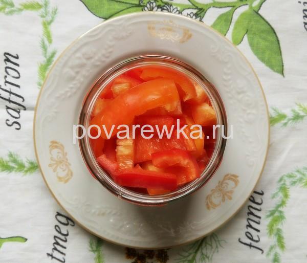Маринованный перец в томатном соке на зиму