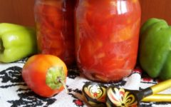 Болгарский перец в томате на зиму
