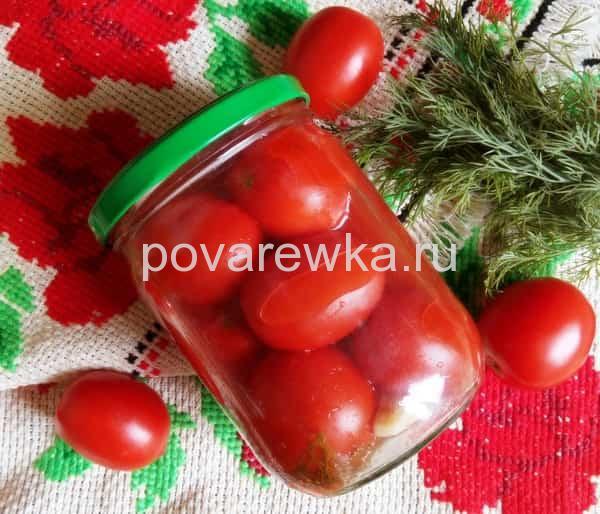 Маринованные помидоры: рецепт на зиму в банках в томате