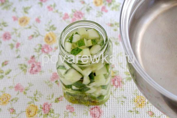 Салат из огурцов на зиму без масла