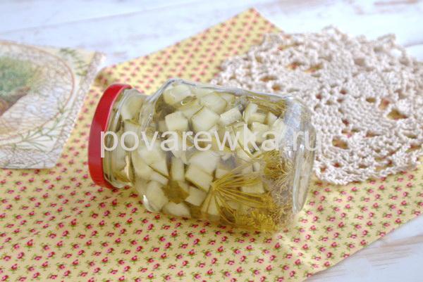 Салат из огурцов на зиму простой рецепт