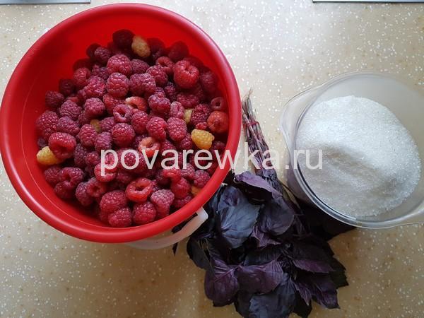 Малиновое варенье на зиму: ингредиенты