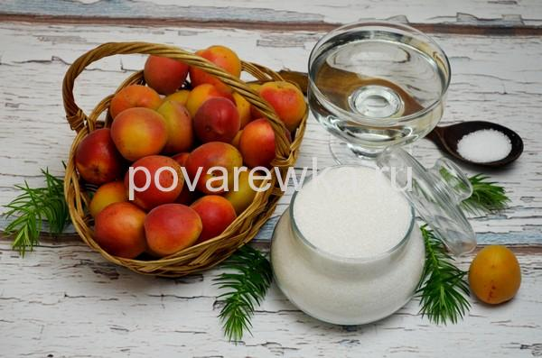 Компот из абрикосов на зиму ингредиенты