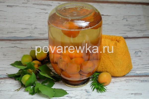 Компот из абрикосов на зиму в банке