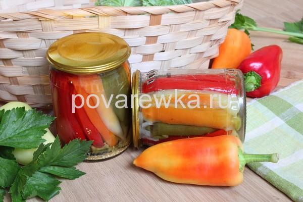 Маринованный перец болгарский на зиму без масла