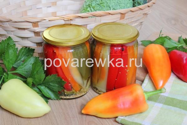 Маринованный перец болгарский на зиму простой рецепт