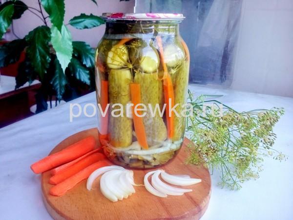 Огурцы по-болгарски на зиму с морковью и луком