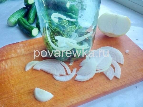 Огурцы по-болгарски на зиму с луком