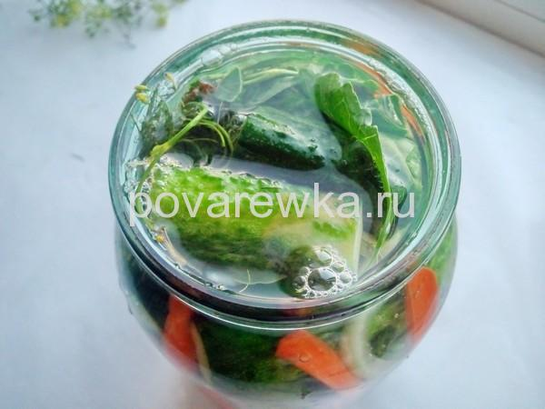 Огурцы по-болгарски на зиму с овощами