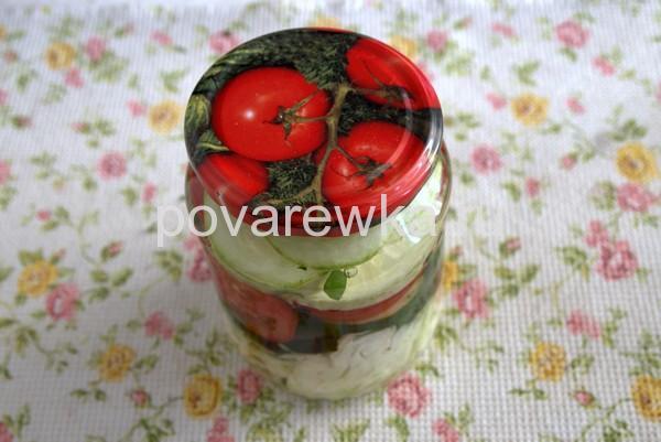 Салат на зиму из овощей в банках