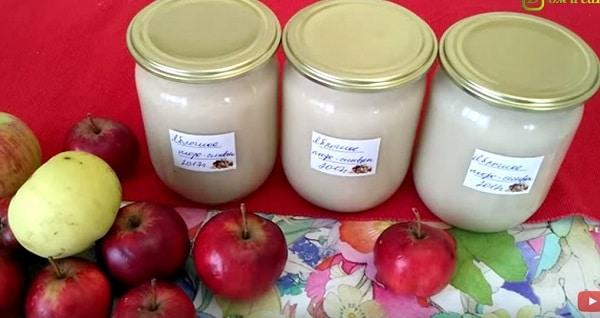 Яблочное пюре на зиму неженка