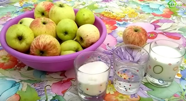 Яблочное пюре на зиму ингредиенты