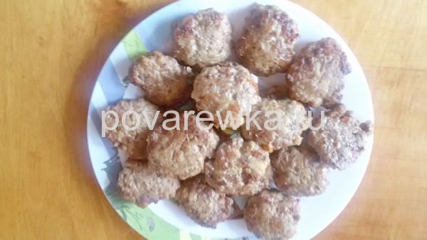 Котлеты из фарша свинины и говядины вкусный рецепт