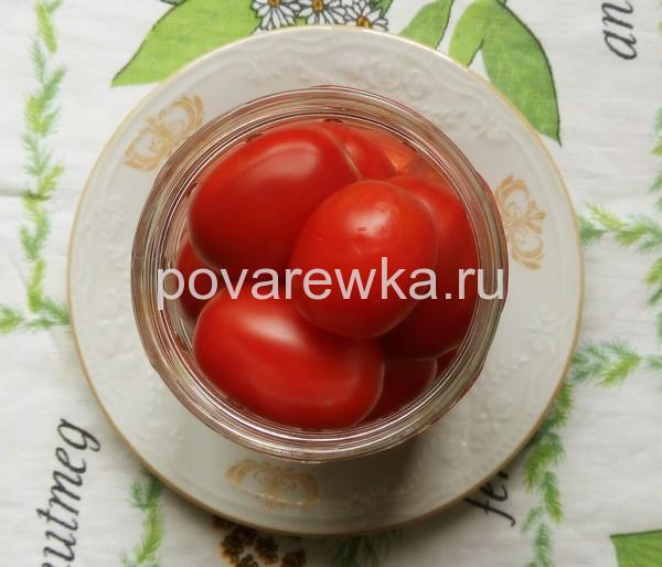 Маринованные помидоры с уксусом и перцем сладким на зиму