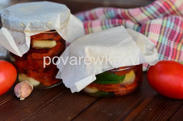 Вяленые помидоры в домашних условиях с чесноком