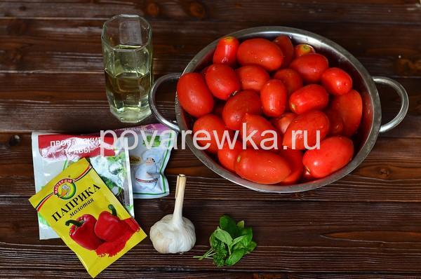 Вяленые помидоры в домашних условиях в духовке ингредиенты